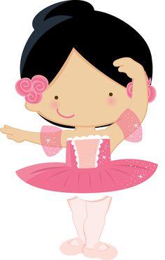 "Convites Digitais Simples: Kit de Personalizados Tema ""Bailarina Rosa"" para Imprimir"