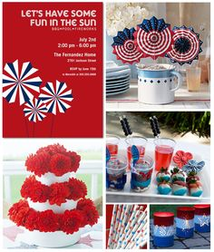 of July Party Inspiration Board.maybe we will have a party? 4th Of July Celebration, 4th Of July Party, Fourth Of July, And July, Happy 4 Of July, Patriotic Party, Patriotic Decorations, Tiny Prints, Holiday Fun
