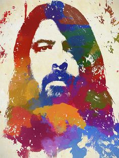 Dave Grohl Watercolor Portrait by Dan Sproul Watercolor Portrait Painting, Baby Prince, Thing 1, Dave Grohl, 3 Arts, All Poster, Fine Art America, Congratulations, Canvas Prints