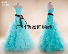 color wedding dress make by sweetday wedding dress factory,welcome OEM/ODM  .Email: sweetdaysmile@gmail.com