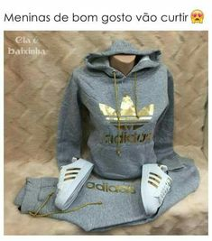jacket adidas adidas outfit gold nike roshe run grey and gold adidas jacket Adidas Leggings Outfit, Legging Outfits, Swag Outfits, Mode Outfits, Sport Outfits, Summer Outfits, Casual Outfits, Cute Addidas Outfits, Adidas Dress
