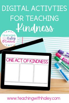 Kindness digital and printable activities - Teaching with Haley. Social-Emotional Learning is more important than ever and having quality lesson plans and activities makes it so much easier. These worksheets & tasks were developed to support YOU in teaching and reinforcing great character. This resource focuses on KINDNESS and is part of a year-long social-emotional curriculum. Suitable for in the classroom or virtual lessons at home for Kindergarten, 1st, 2nd grade & homeschool students.