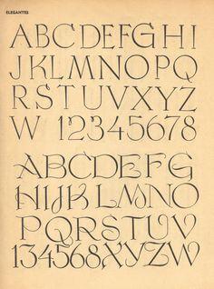 Vintage script and Roman alphabets, 100 Alphabets Publicitaires, 1946