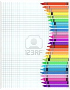 crayons on graph paper
