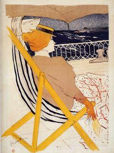 indigodreams:nataliakoptseva: 1895Henri Toulouse Lautrec (French; 1864-1901) ~The Passenger In Cabin 54