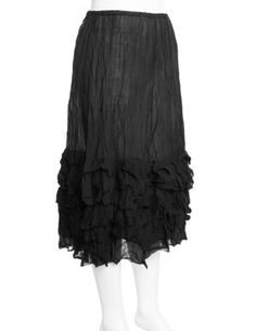 High-quality ramie fibre skirt  in Black designed by Privatsachen to find in Category Skirts at navabi.de