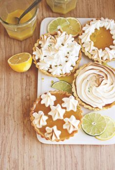 Mini citrus tarts. #recipes #tarts #summer