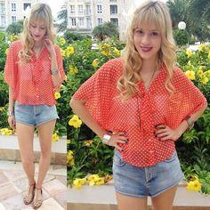 Orange (by Sophia Abrahão) http://lookbook.nu/look/4414795-Orange