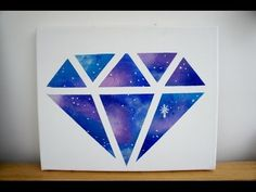 DIY Room decor: Galaxy diamond painting - YouTube