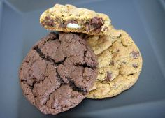 Cookies de macadâmia, chocolate e baunilha com gotas de chocolate da rede Mr. Cheney