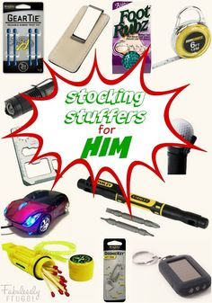 Stocking Stuffers for the Man in Your Life! Lots of great gift ideas that my husband would love. Plus, all of these fun little stocking stuffers are less than $5 each.