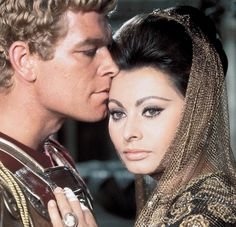 Stephen Boyd and Sophia Loren in 'Fall of the Roman Empire' (1964)