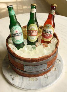 Beer Barrel Cake - Cake by Samantha Potter