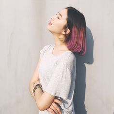 What It's Like to Have Rainbow Hair, by Irene Kim Asian Hair Inspo, Short Curly Hair, Curly Hair Styles, Korean Hair Color, Kim Hair, Irene Kim, Rainbow Hair, Cool Hair Color, Dyed Hair