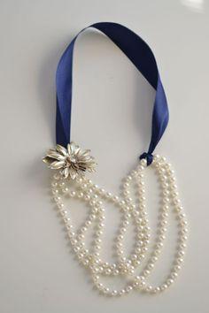 DIY Pearl Necklace- with brooch