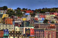 St. John's, Newfoundland.   I love being here!