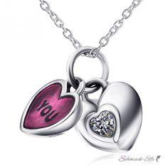 Medaillon Herz Anhänger You & ME mit Zirkonia inkl. Glieder @EasiestFun @ezpopsy #Accessories #Jewelry #Crafts #Necklace #style #Fashionwomen #women #2016 #girls #sexy