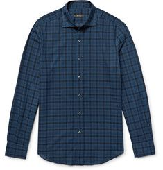 Cotton And Cashmere-blend Twill Shirt - Off-whiteBerluti