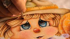 Pintura em tecido - Eliane Nascimento cabelinho da espantalha