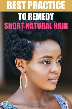 Get the best practice and tips to remedy your short natural hair Natural Hair Growth Remedies, Natural Hair Treatments, Natural Hair Mask, How To Grow Natural Hair, Grow Long Hair, Natural Hair Styles, Hair Growth Progress, Hair Growth Cycle, Breaking Hair