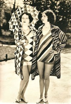 ¤ Two models in Sonia Delaunay beachwear, 1927