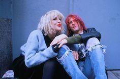 Courtney Love and Kurt Cobain New York 10th January 1992
