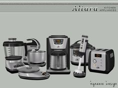 sims 4 cc // custom content clutter decor // the sims resource // NynaeveDesign's Altara Kitchen Appliances