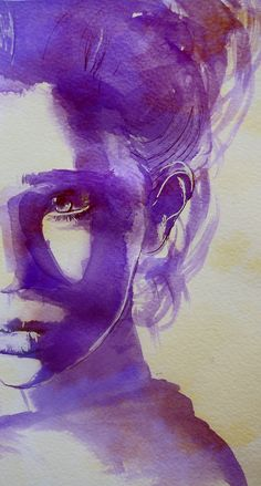 Super Really Cool Art Drawings Water Colors Ideas Watercolor Portraits, Watercolor Paintings, Watercolours, Watercolor Trees, Watercolor Landscape, Abstract Paintings, Ink Illustrations, Illustration Art, Purple Art
