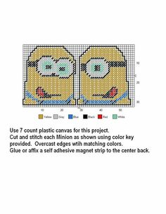 Minions Cross-Stitch:  use as a party favor