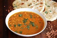 Cozy up to a hearty bowl of curried Coconut Red Lentil Soup.