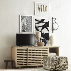 Outfit any room with a console, sideboard, or server. Living Room Grey, Living Room Decor, Sliding Cabinet Doors, Tv In Bedroom, Media Cabinet, Traditional Furniture, New Furniture, Living Room Designs, Home Accessories