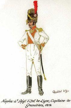 Ufficiale dei granatieri del 6 rgt. di fanteria del regno di Napoli