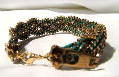 Braided Zipper Bracelet by KariMcMurphy on Etsy