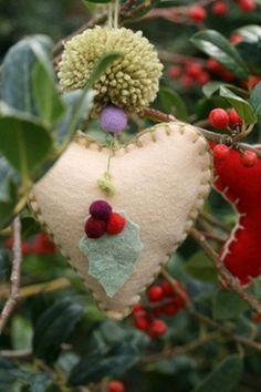 ..Felt heart ornament