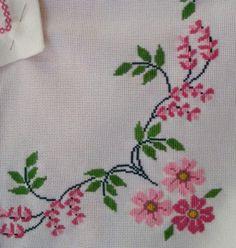 The most beautiful cross-stitch pattern - Knitting, Crochet Love Cross Stitch Letters, Cross Stitch Borders, Cross Stitch Rose, Cross Stitch Samplers, Cross Stitch Flowers, Cross Stitch Charts, Cross Stitch Designs, Cross Stitching, Cross Stitch Embroidery