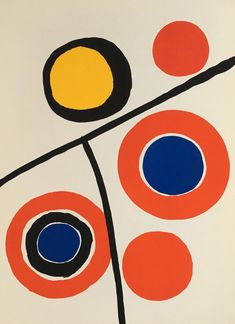 Browse for bold & original lithographs or screen-prints by artist Alexander Calder. We carry extremely affordable & authentic Calder prints - explore now! Art Lessons, Kinetic Sculpture, Alexander Calder, Painting, Kinetic Art, Art, Lithograph, Calder Mobile, Abstract