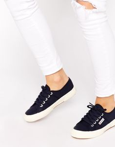 Superga 2750 Classic Navy Plimsoll Trainers