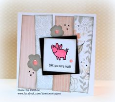 CTMH 'Animal Greetings' stamp set. I love this new Charlotte paper pack too. www.facebook.com/dawn.montagano