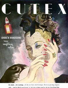 """Cutex, """"Dark'N Handsome"""" - 1934 - Ruth Sigrid Grafstrom"""