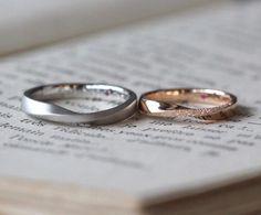 プラチナとピンクゴールド:ひねりの結婚指輪  [マリッジリング,marriage,結婚指輪,wedding,ring,bridal,Pt900,K18]