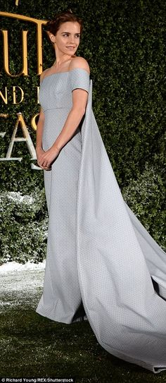 All eyes on her: Emma looked sensational as she dressed for the fairytale occasion in the ...