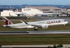 First for Qatar Airways completing its first flight .To be registered - Photo taken at Toulouse - Blagnac (TLS / LFBO) in France on October Istanbul Airport, Dubai Airport, Concorde, Doha, Fly Around The World, Emirates Airline, Turkish Airlines, Commercial Aircraft, Civil Aviation