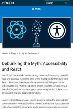 In this article gathered some great tips and tricks that can help you improve the accessibility of your React apps.