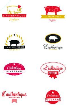 Logo Charcuterie / Authentique Piveteau