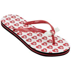 Women's Washington State Cougars Bow Flip-Flops, Size: