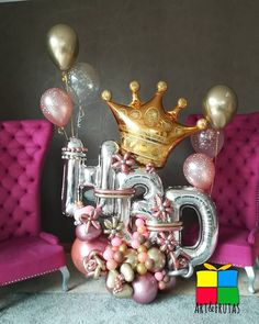 Birthday Balloon Decorations, Diy Party Decorations, Birthday Balloons, Christmas Table Decorations, Handmade Decorations, Balloon Tassel, Balloon Gift, Balloon Bouquet Delivery, Balloon Display