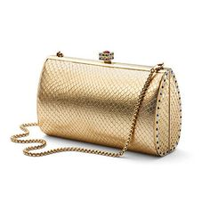 Patent Gold Snakeskin - Aspinal of London
