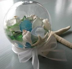 Seashells are a fun and inexpensive way to add color and texture to your decor. They can be easily turned into jewelries, candle holders, picture frames, chimes and lamps. http://hative.com/cool-seashell-project-ideas/