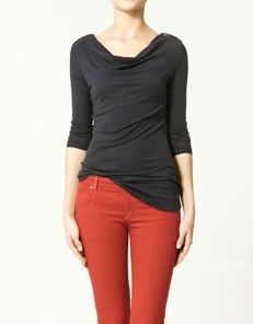 bomb red jeans