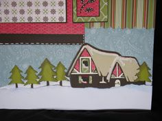 Santa's workshop layout made using Hannah Montana and Happily Ever after cartridges.